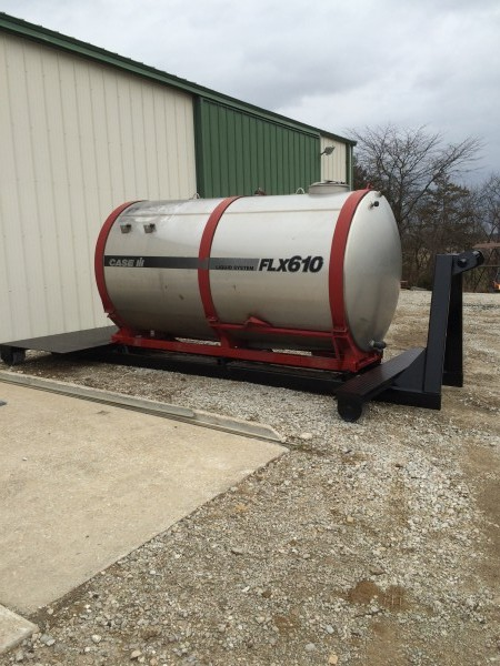 1600 gallon stainless steel water tank on roll off understructure